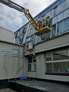 glazing refurbishment with mechanical access
