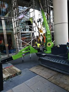 specialist access glass replacement via spider crane