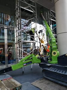 specialist access glass replacement with spider crane
